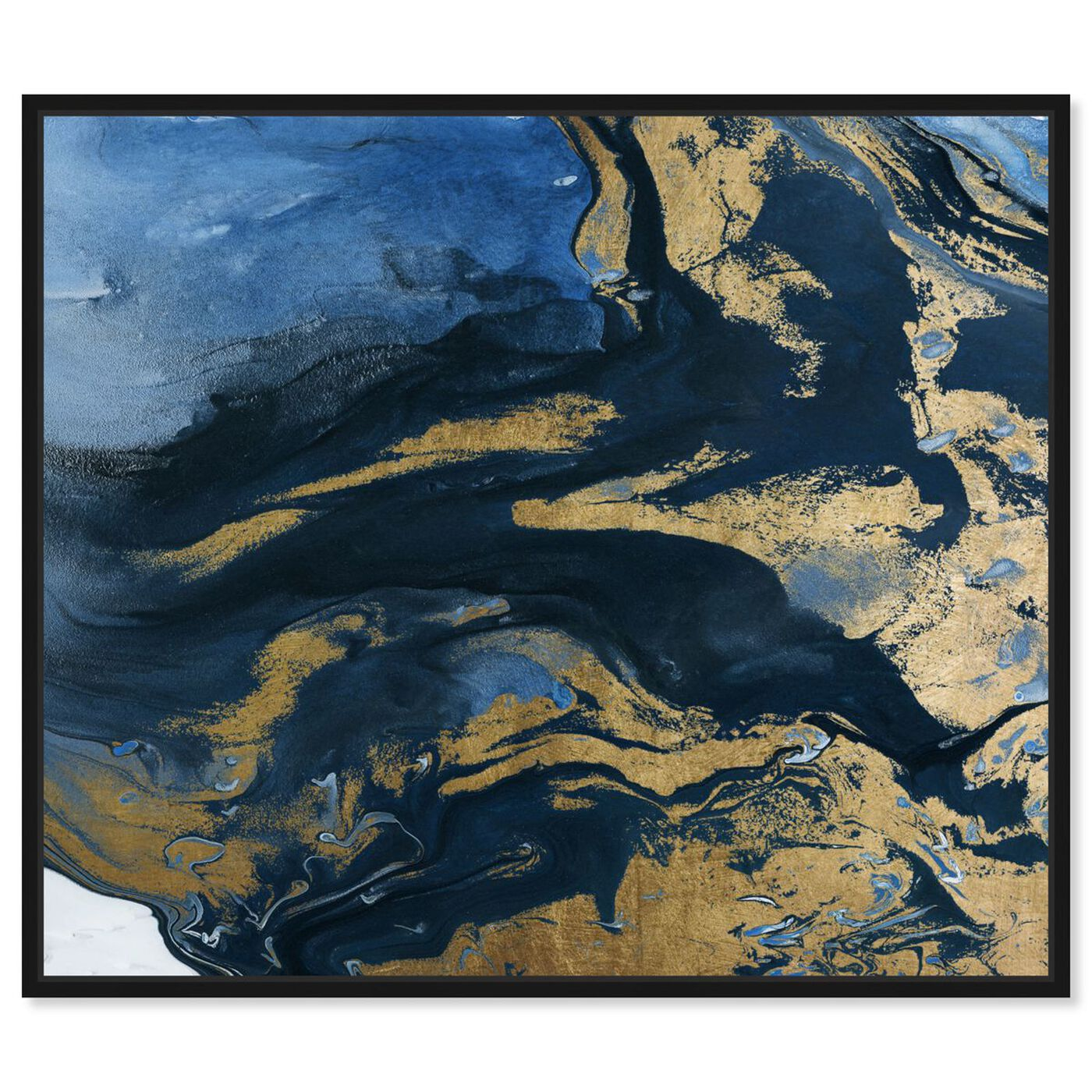 Front view of Smooth Gold featuring abstract and paint art.