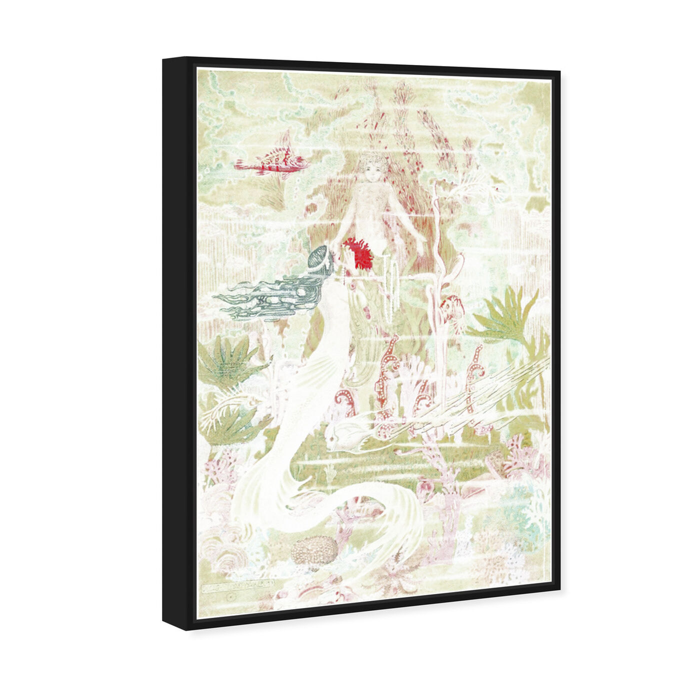 Angled view of Little Mermaid Original featuring fantasy and sci-fi and fantasy creatures art.