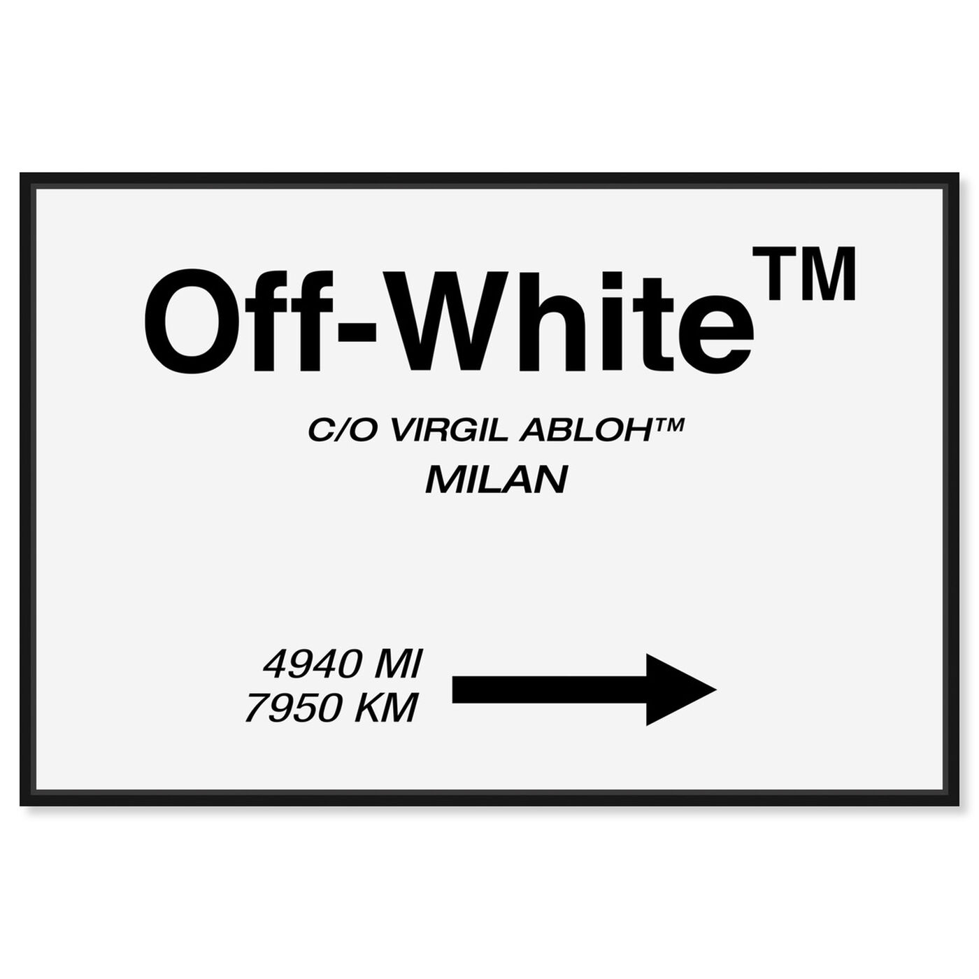 Front view of OFF Road Sign Minimalist featuring fashion and glam and road signs art.