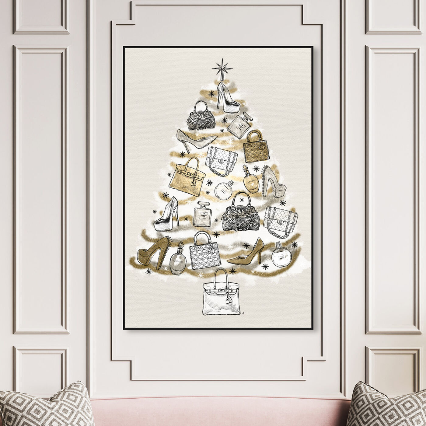 Hanging view of Fashion Christmas featuring holiday and seasonal and holidays art.