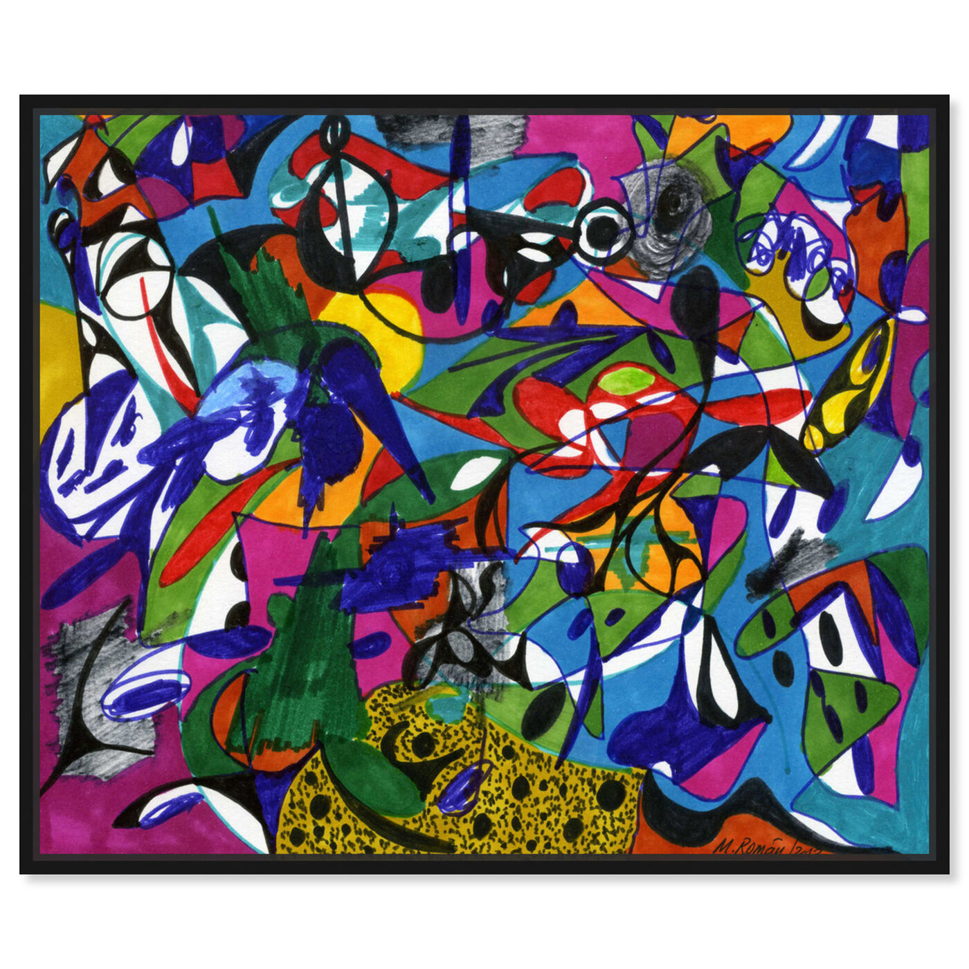 Front view of Cacophony featuring abstract and shapes art.