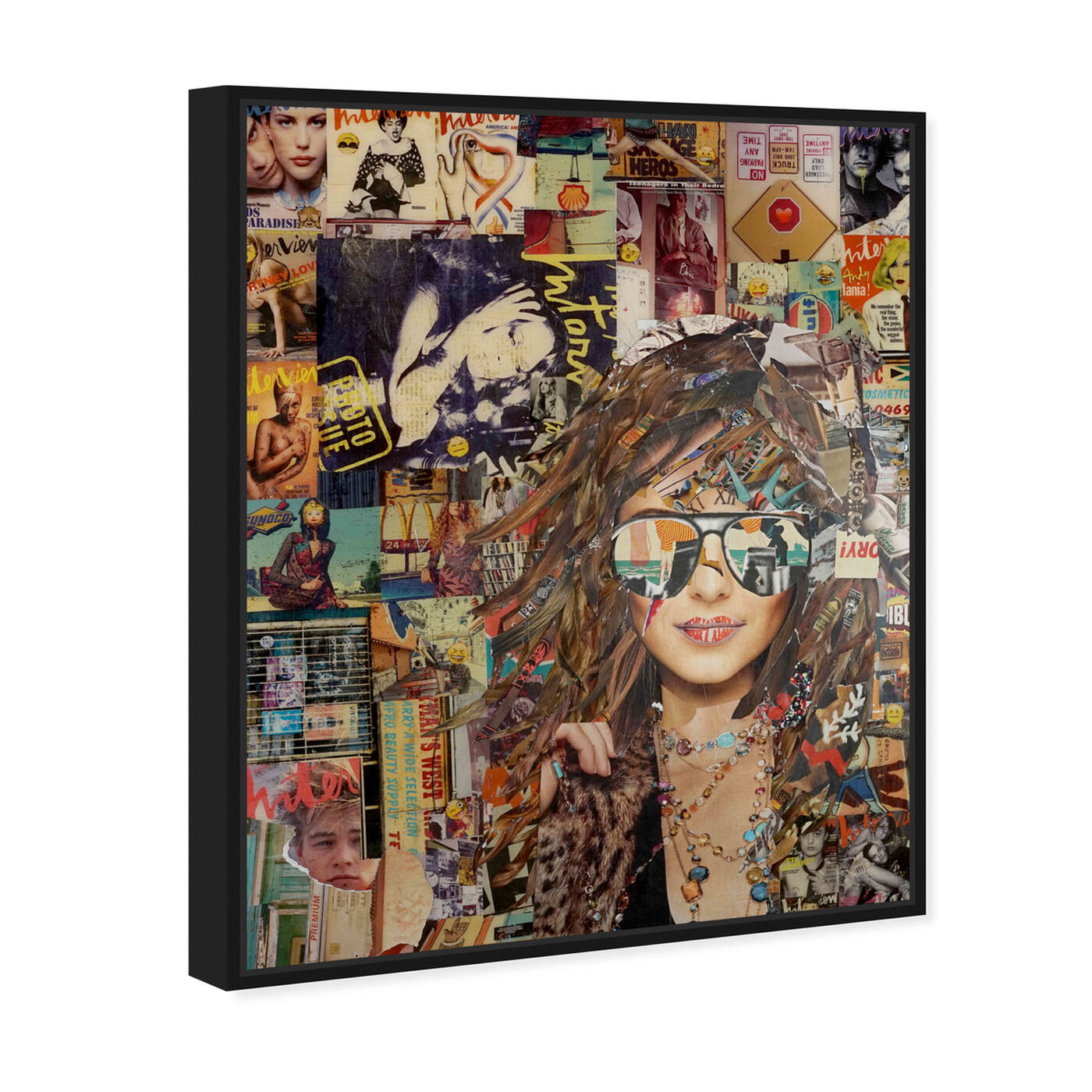 Angled view of Katy Hirschfeld - Girl and Sunglasses featuring fashion and glam and portraits art.