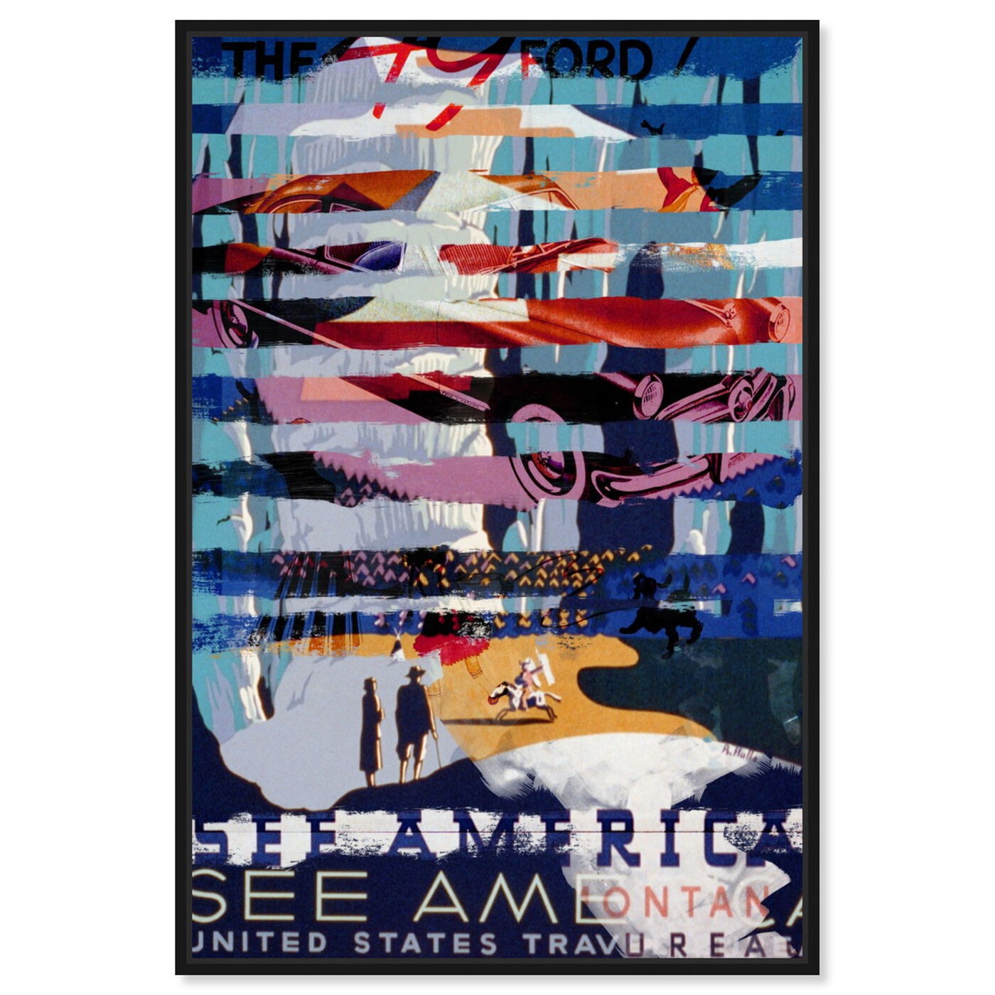 Front view of See America by Car featuring advertising and posters art.