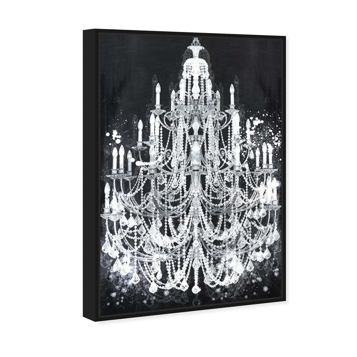 Angled view of Privee Diamonds featuring fashion and glam and chandeliers art.