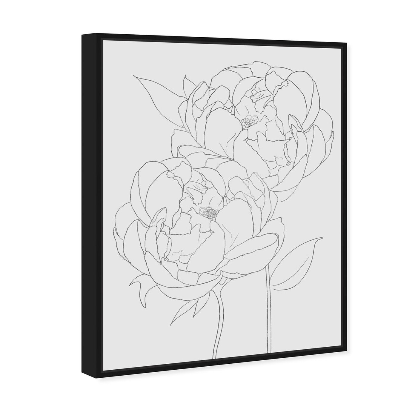 Angled view of Peonies featuring floral and botanical and florals art.
