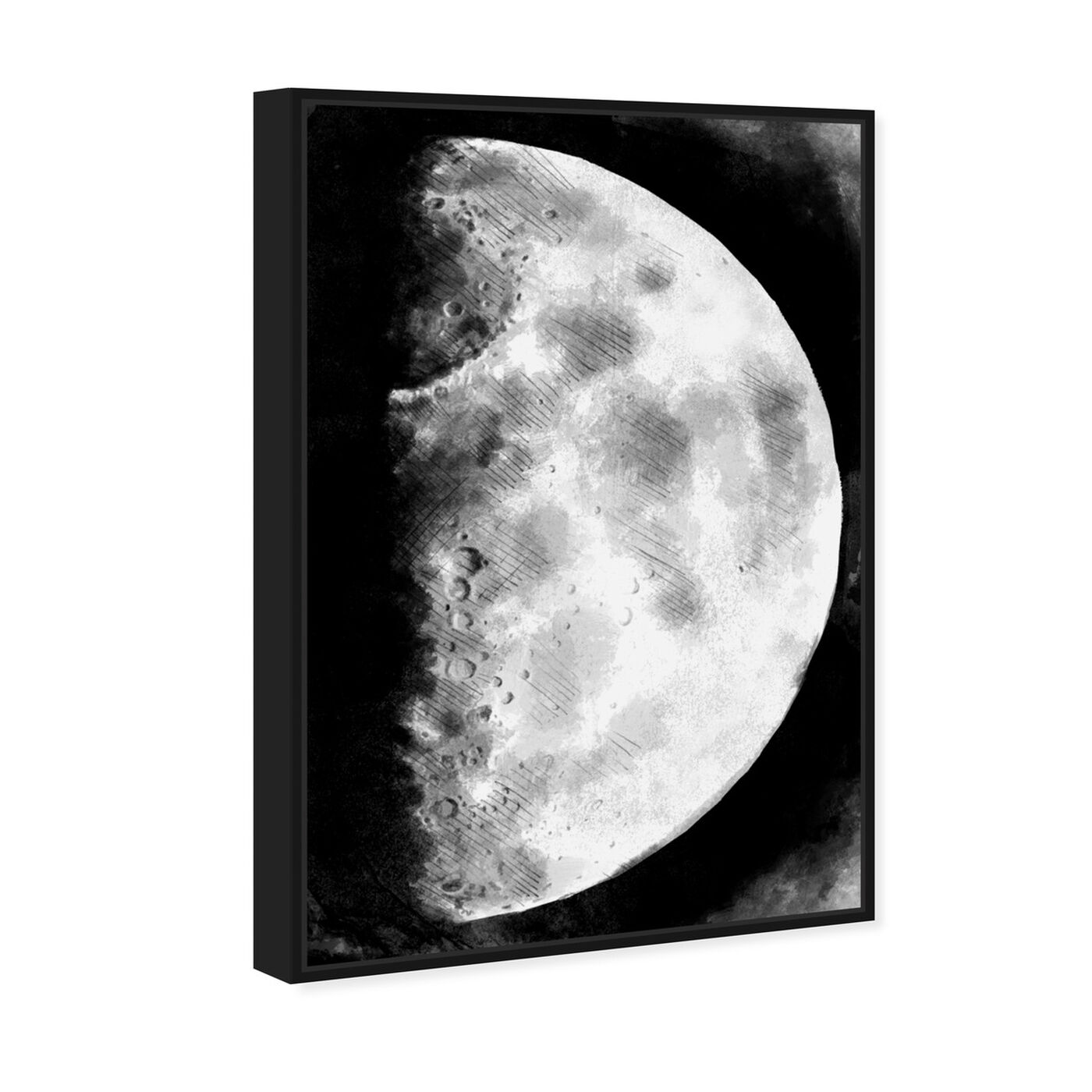 Angled view of Moon Sketch featuring astronomy and space and moons art.