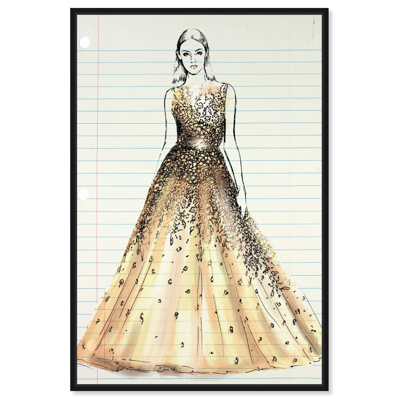 Front view of Fashion Letter featuring fashion and glam and dress art.