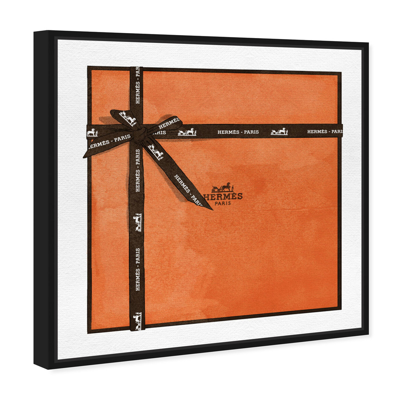Angled view of Perfect Orange Gift featuring fashion and glam and lifestyle art.