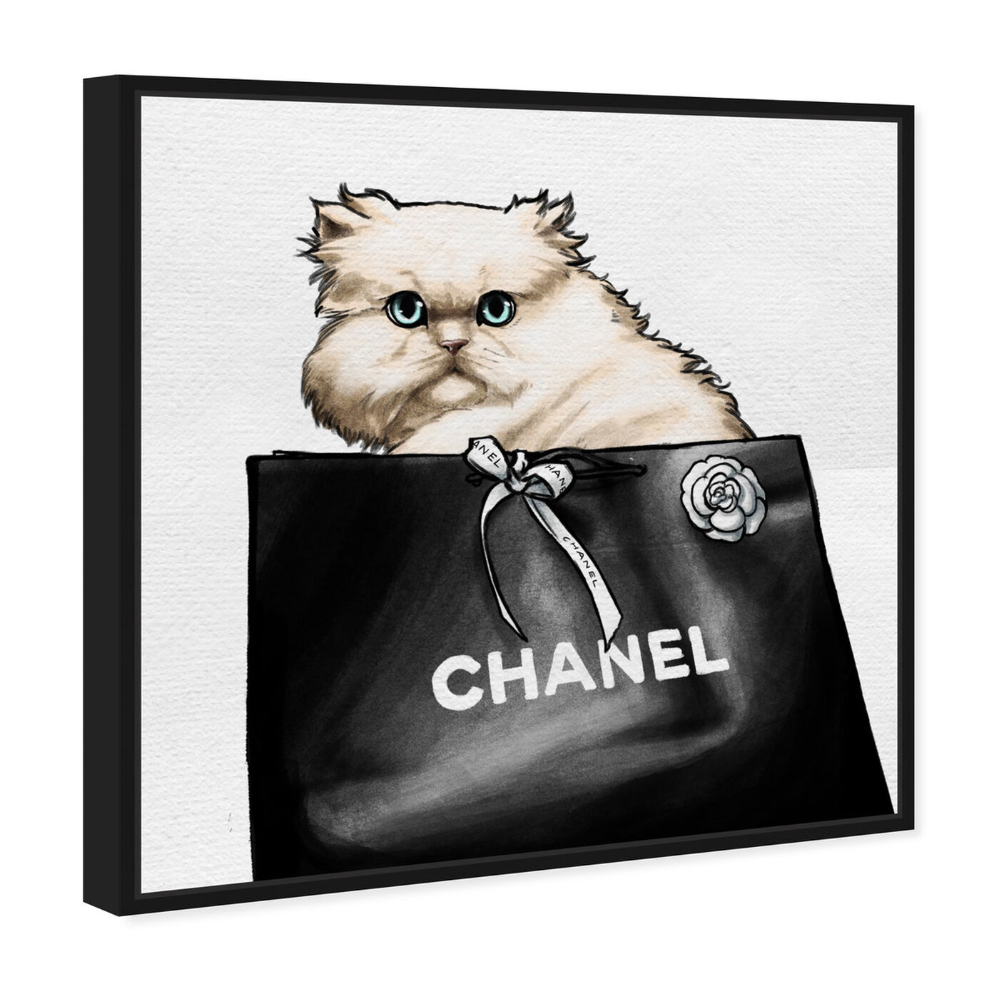 Angled view of Feline Glam featuring fashion and glam and lifestyle art.