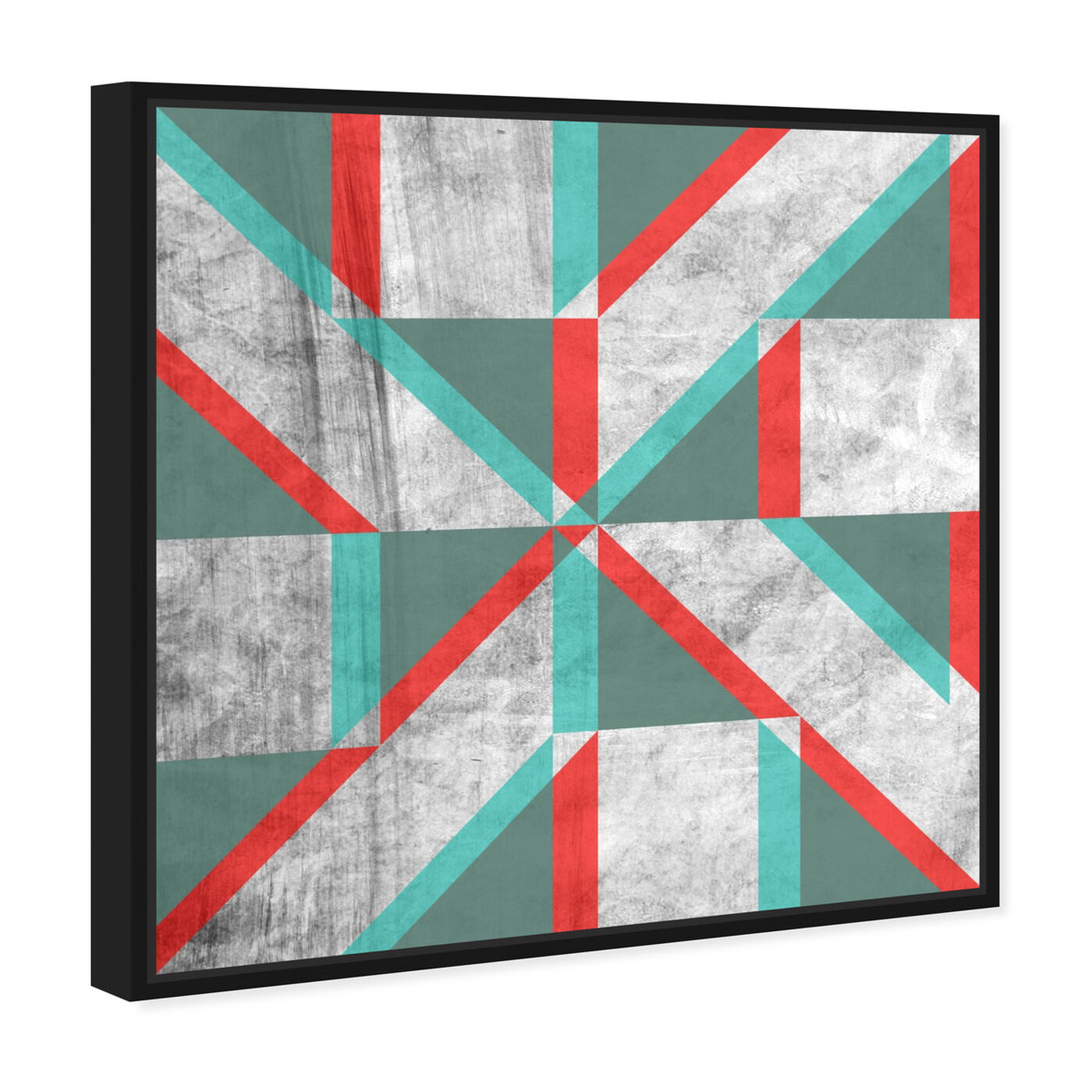 Angled view of Falling Shape featuring abstract and geometric art.