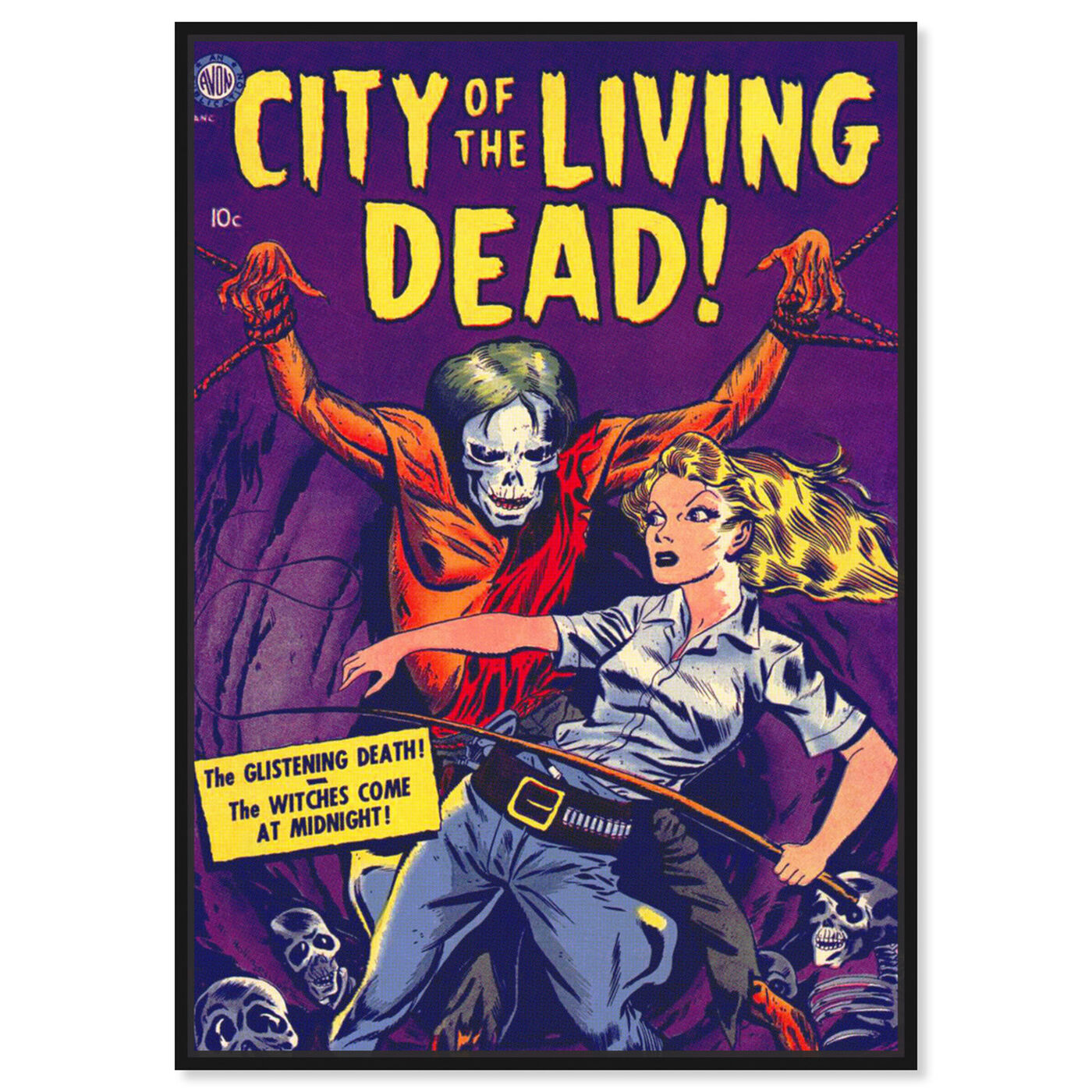 Front view of City Of The Living Dead featuring advertising and comics art.
