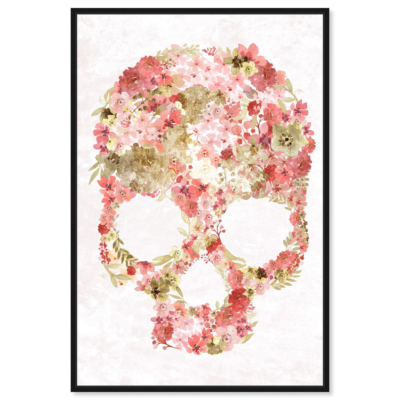 Front view of Blush Floral Mindset Gold featuring floral and botanical and florals art.