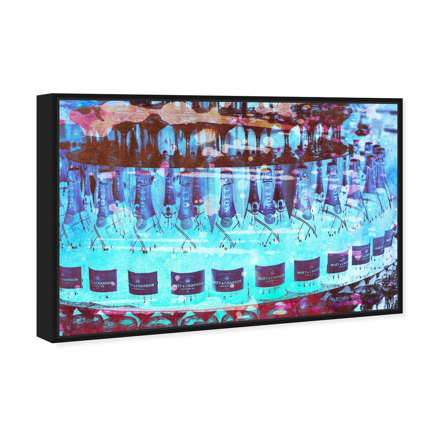 Angled view of Bubbly Cake featuring drinks and spirits and champagne art.