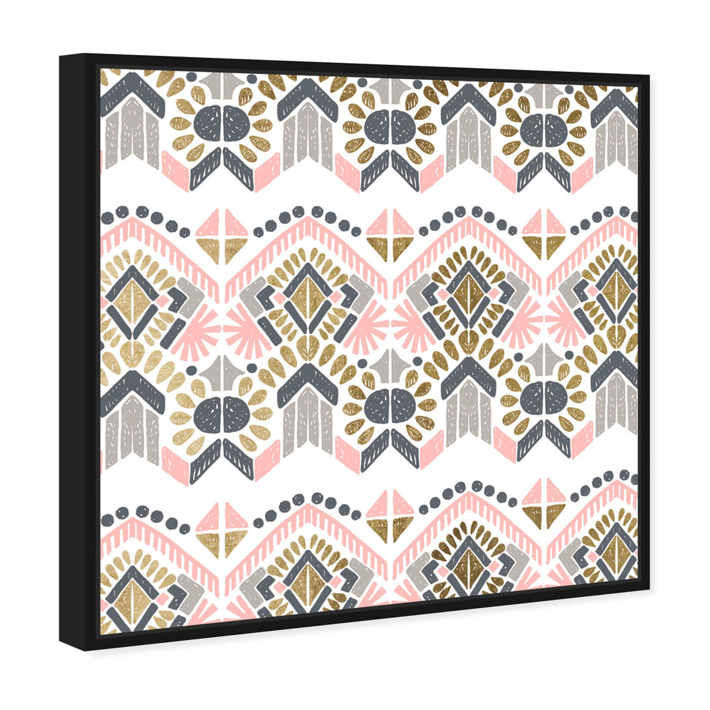 Angled view of Soft Tribal featuring abstract and patterns art.