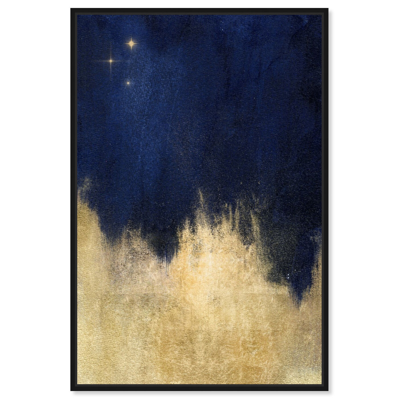 Front view of Stars at Midnight featuring abstract and paint art.
