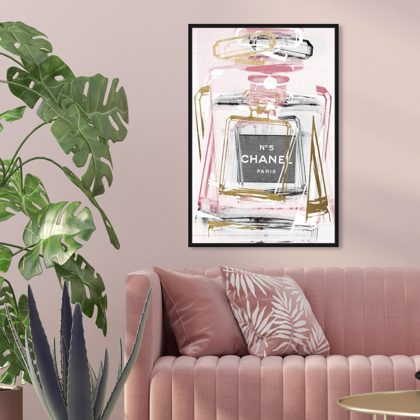 Hanging view of Infinite Glam Blush featuring fashion and glam and perfumes art.