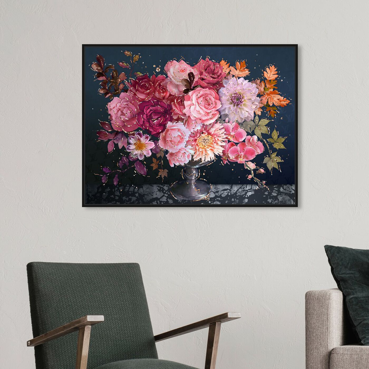 Hanging view of Royal Navy Bouquet featuring floral and botanical and florals art.