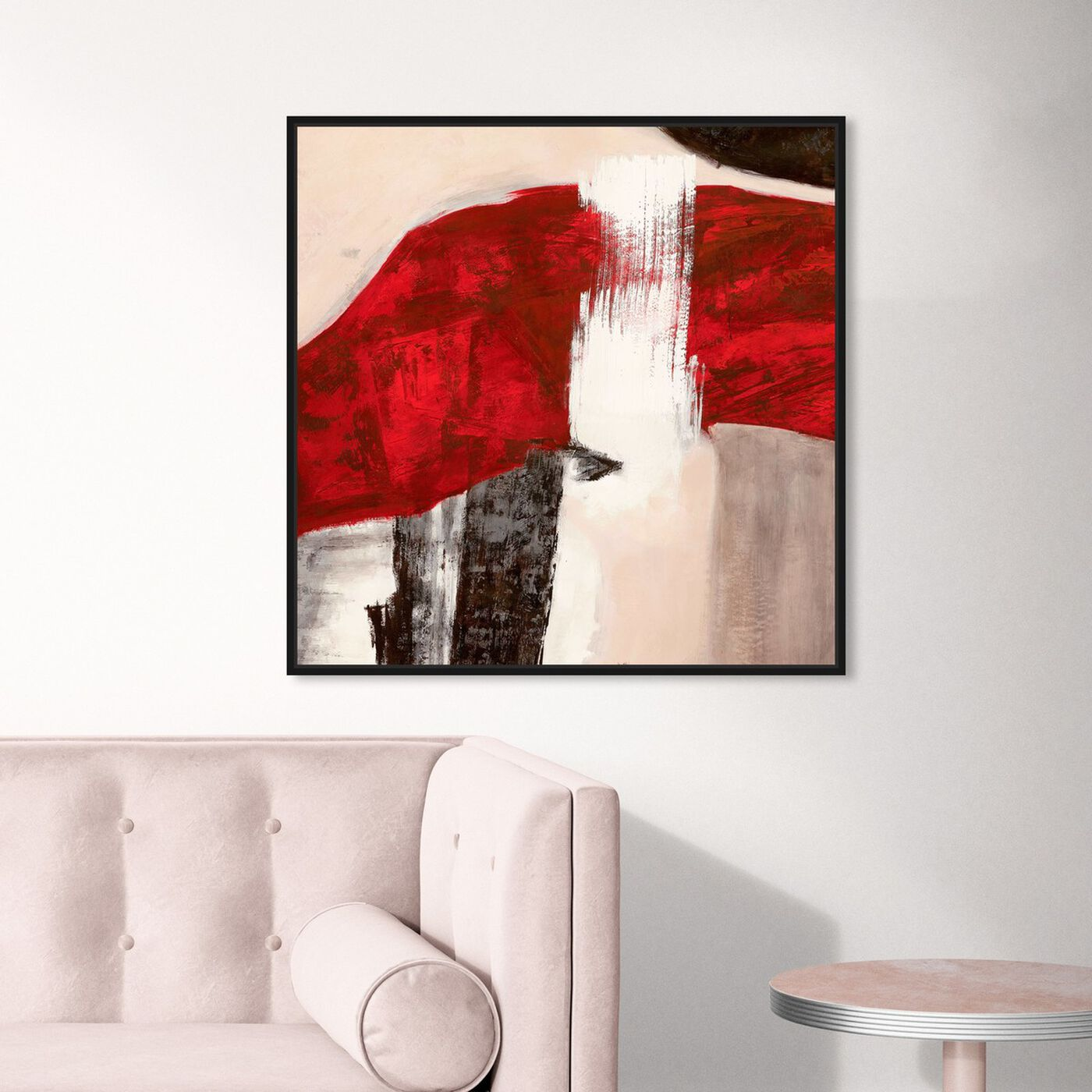 Hanging view of Sai - Rubrum III 1SN1858 featuring abstract and paint art.