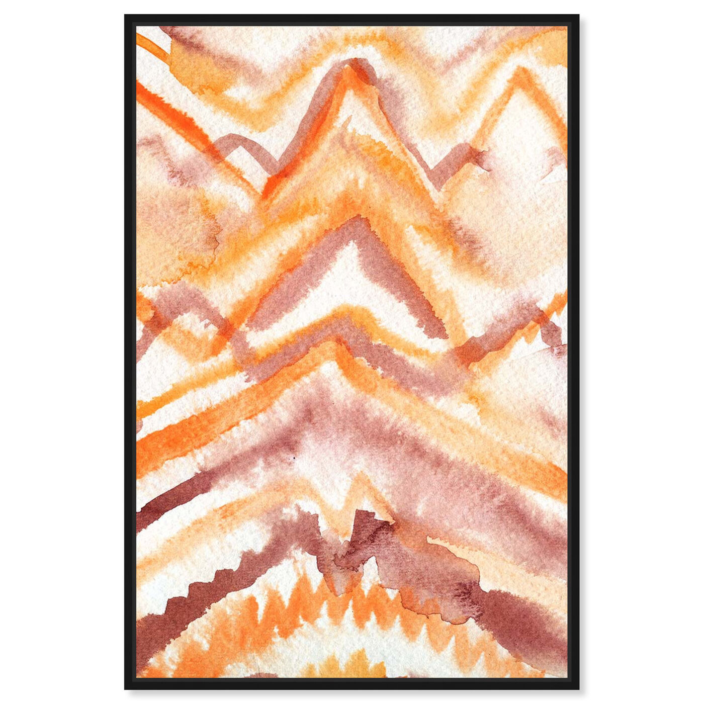 Front view of Wild Sun Ray featuring abstract and watercolor art.