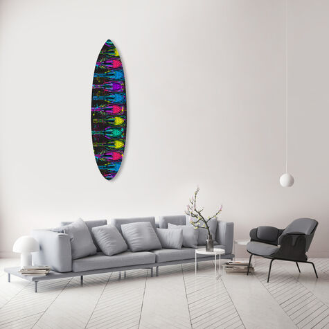 Luminous Party Champagne Surfboard Flat
