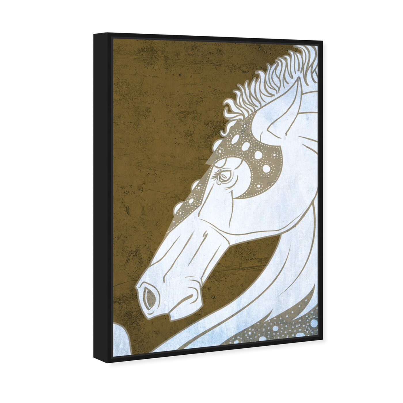 Angled view of Gold Stallion featuring animals and farm animals art.