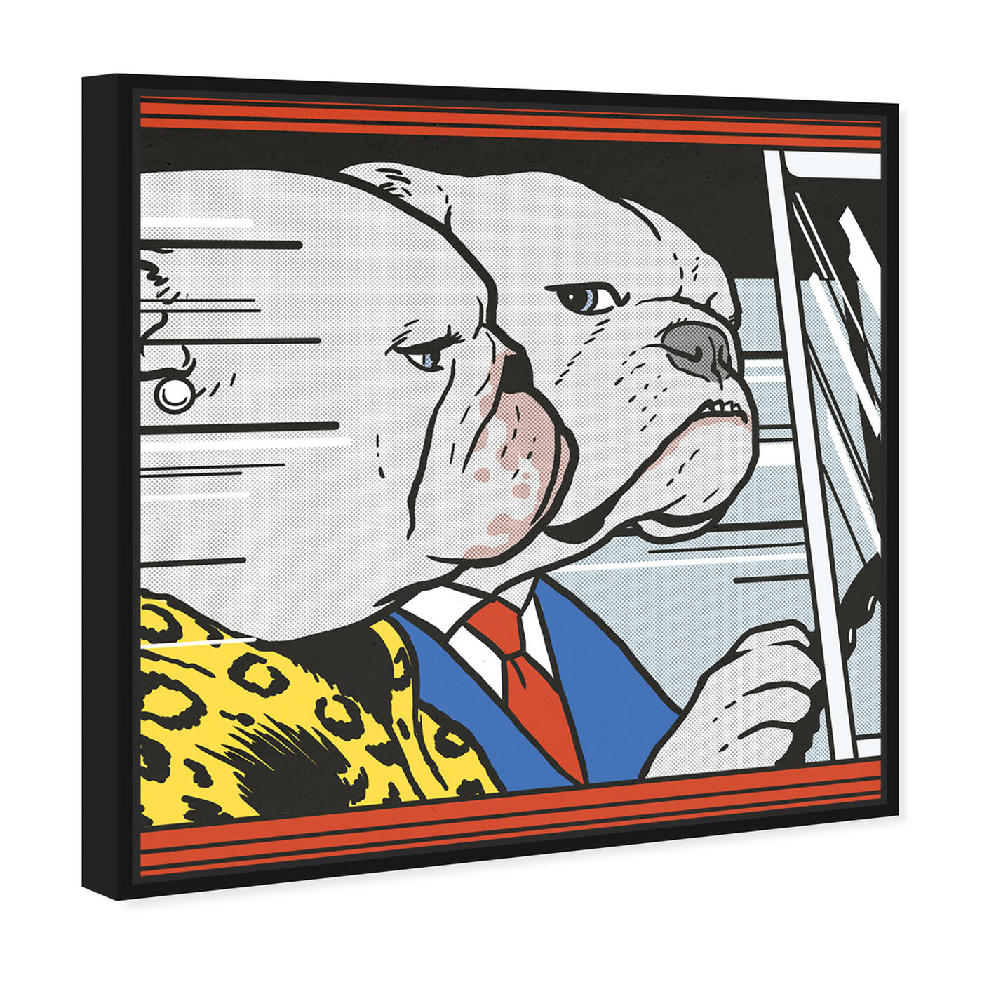 Angled view of Car Ride by Carson Kressley featuring animals and dogs and puppies art.