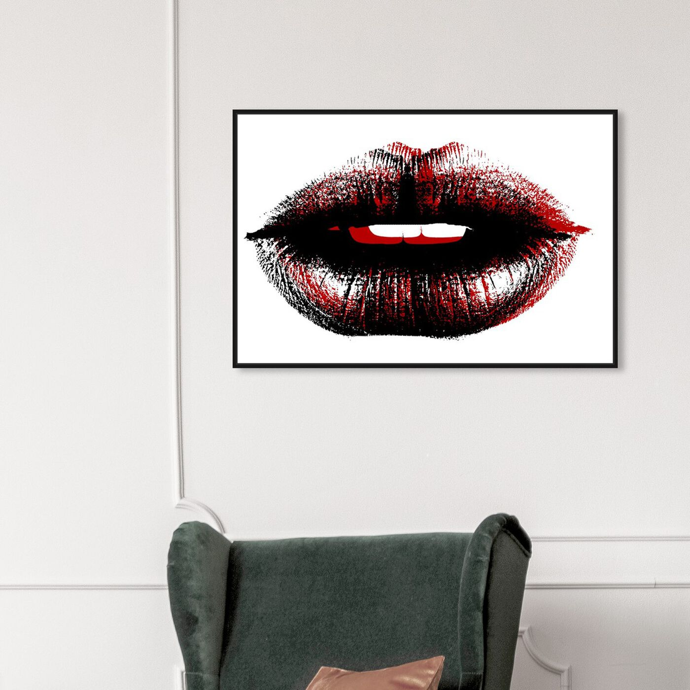 Hanging view of Bond Girl Lips featuring fashion and glam and lips art.