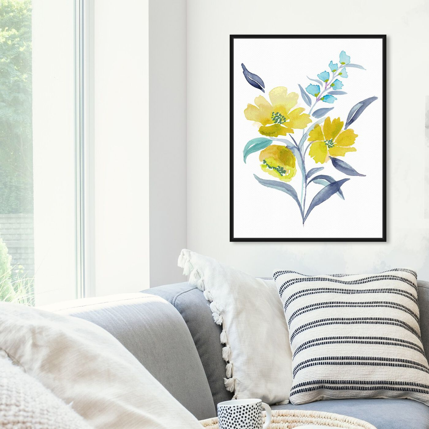 Hanging view of Spring Meadowlark Bouquet featuring floral and botanical and florals art.