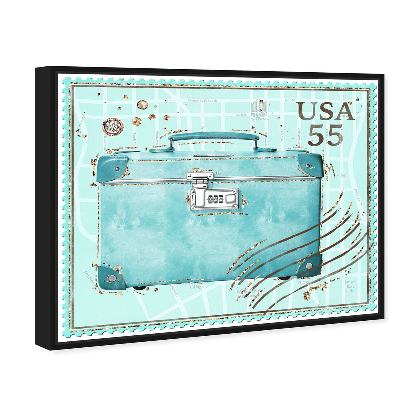 Angled view of Turquoise Post featuring fashion and glam and travel essentials art.