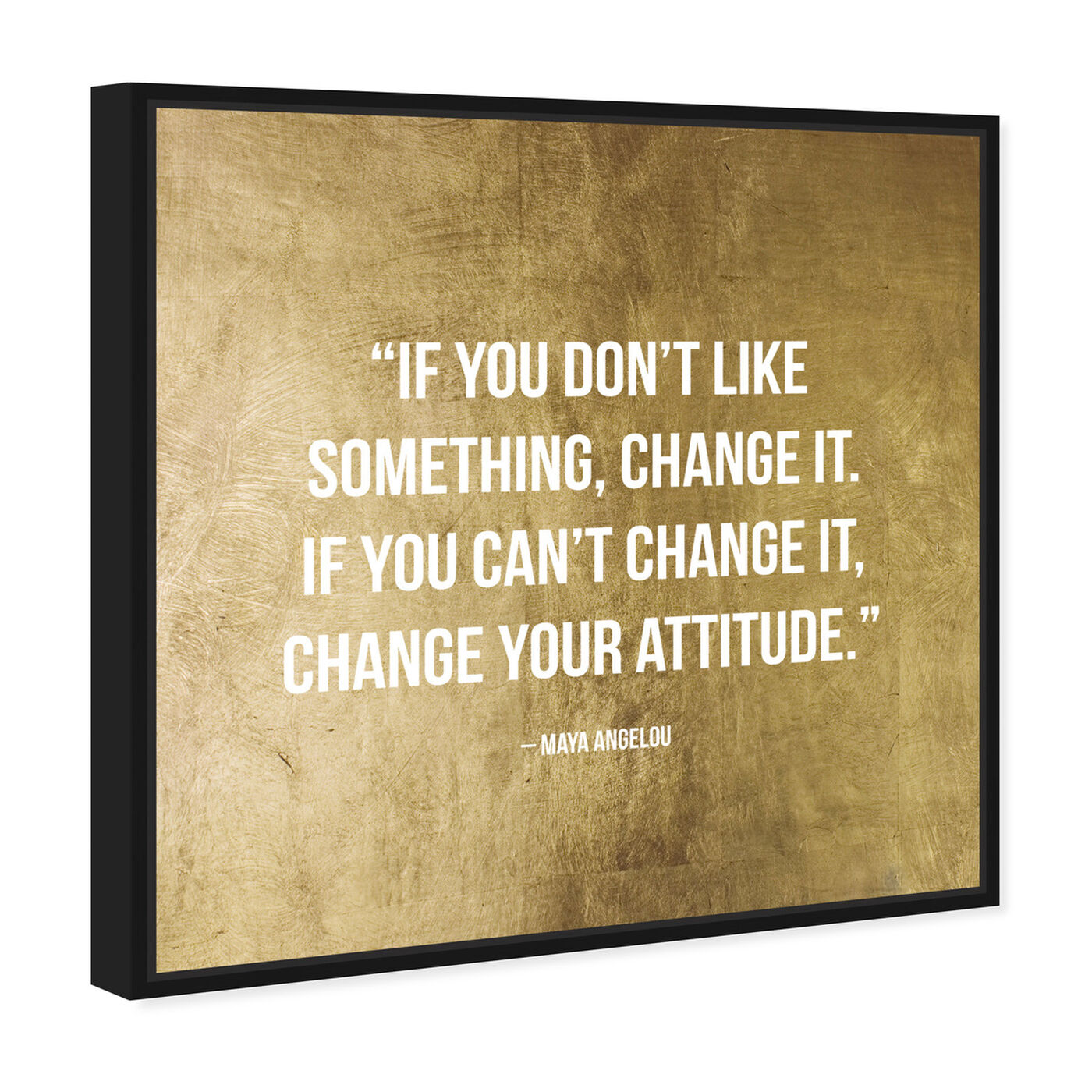 Angled view of Change It featuring typography and quotes and inspirational quotes and sayings art.