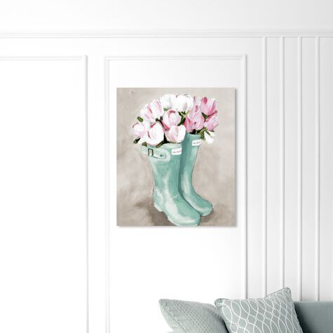 Tulips In Spring Boots