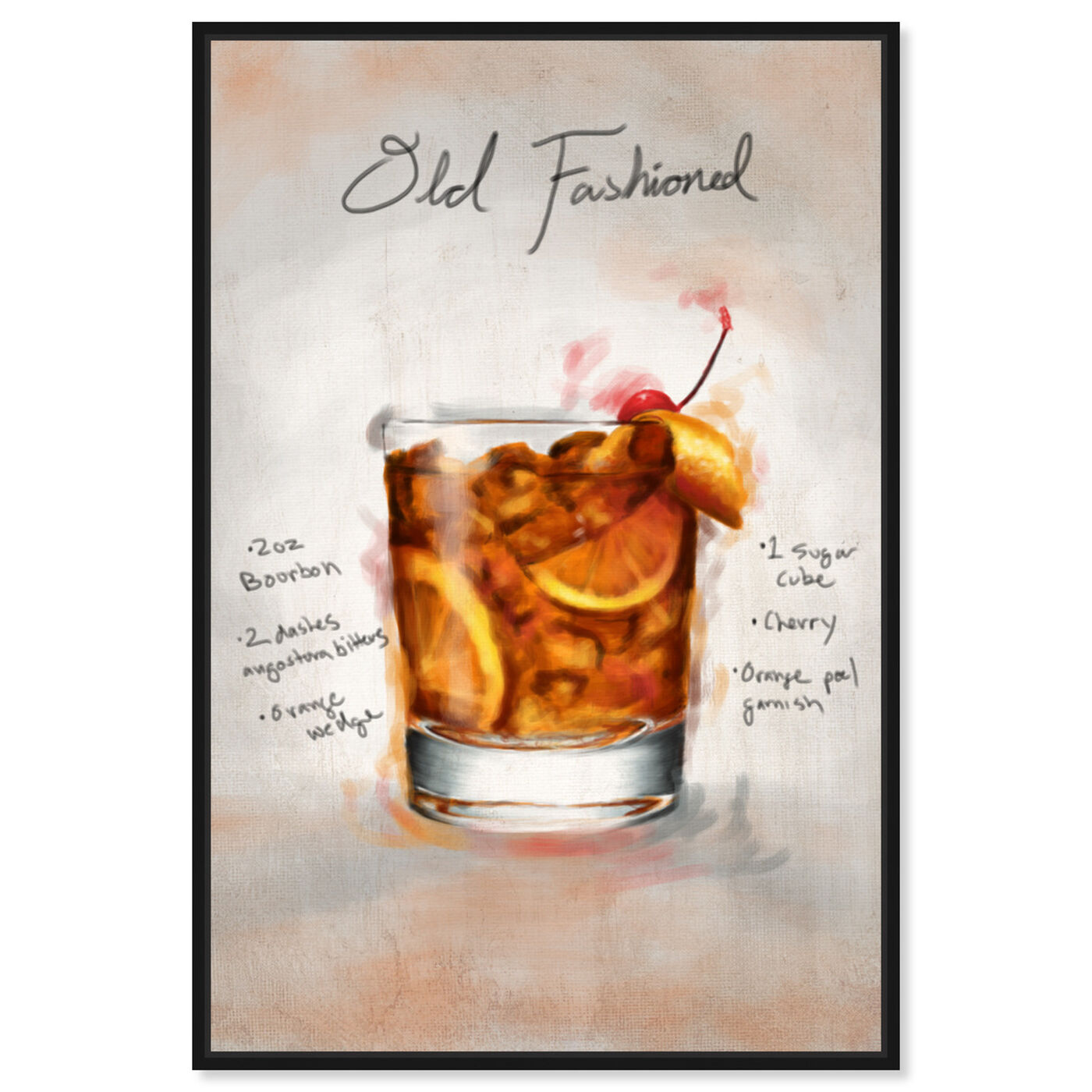 Front view of Old Fashioned featuring drinks and spirits and cocktails art.