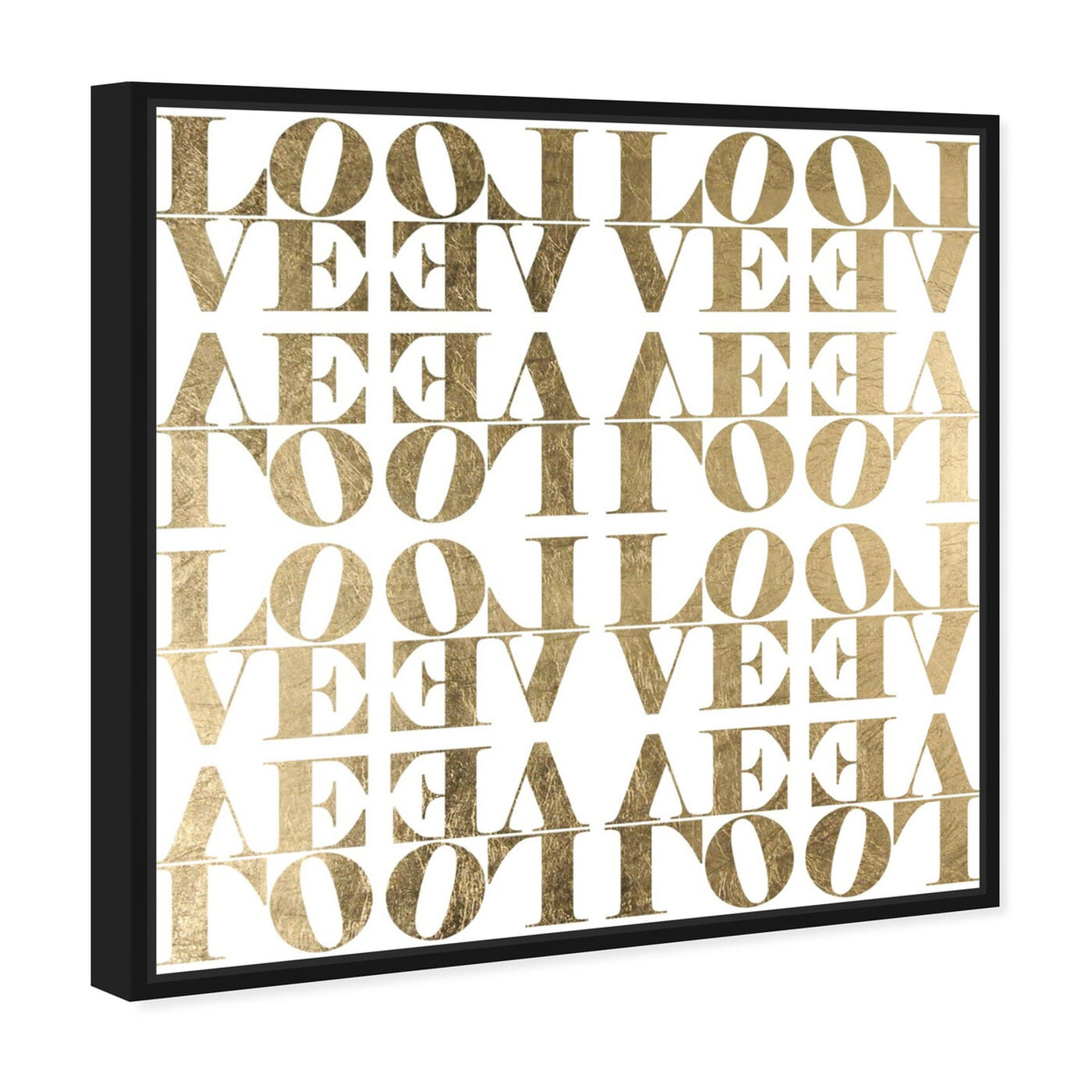 Angled view of Infinite Love I featuring typography and quotes and love quotes and sayings art.