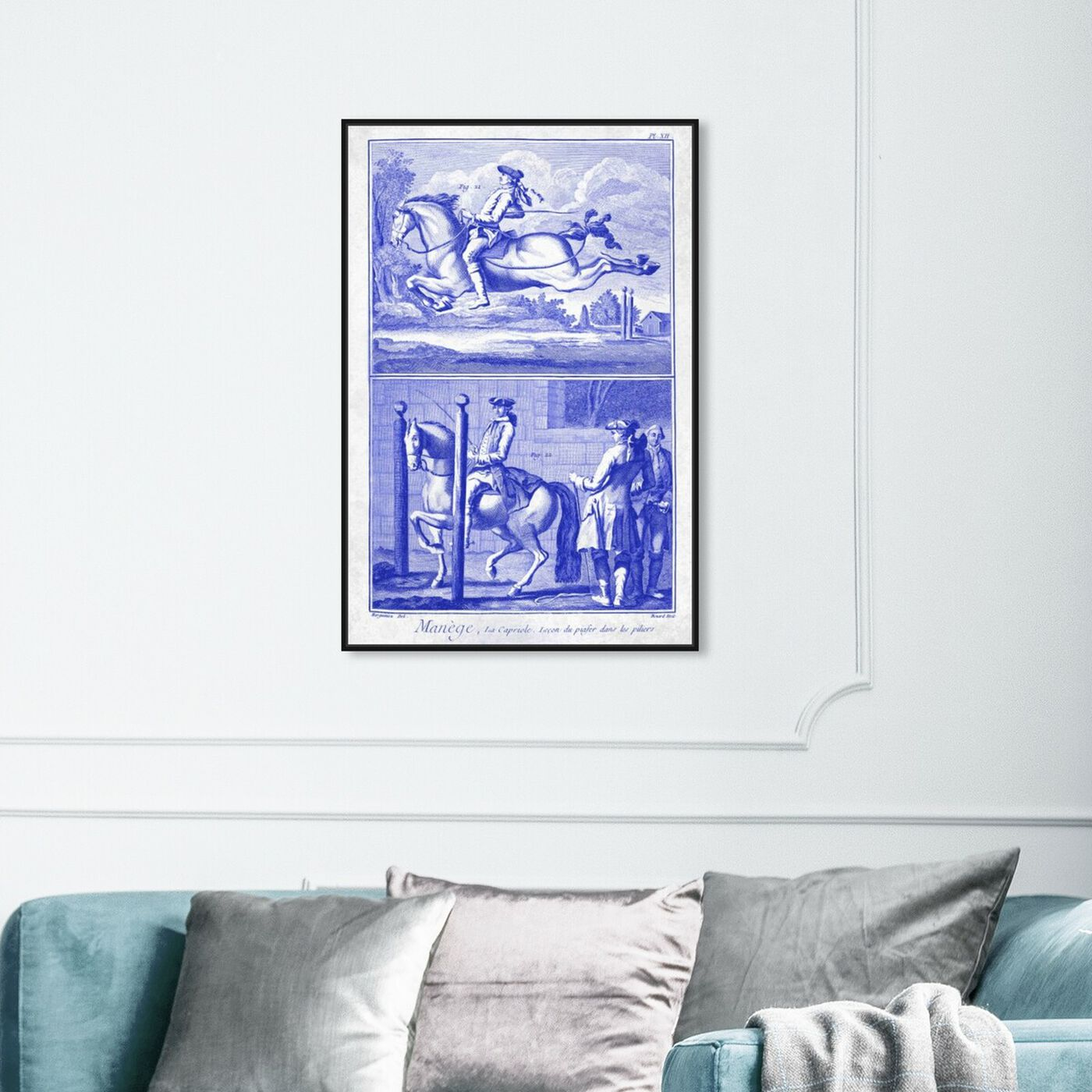 Hanging view of Manege by Carson Kressley featuring classic and figurative and classical figures art.