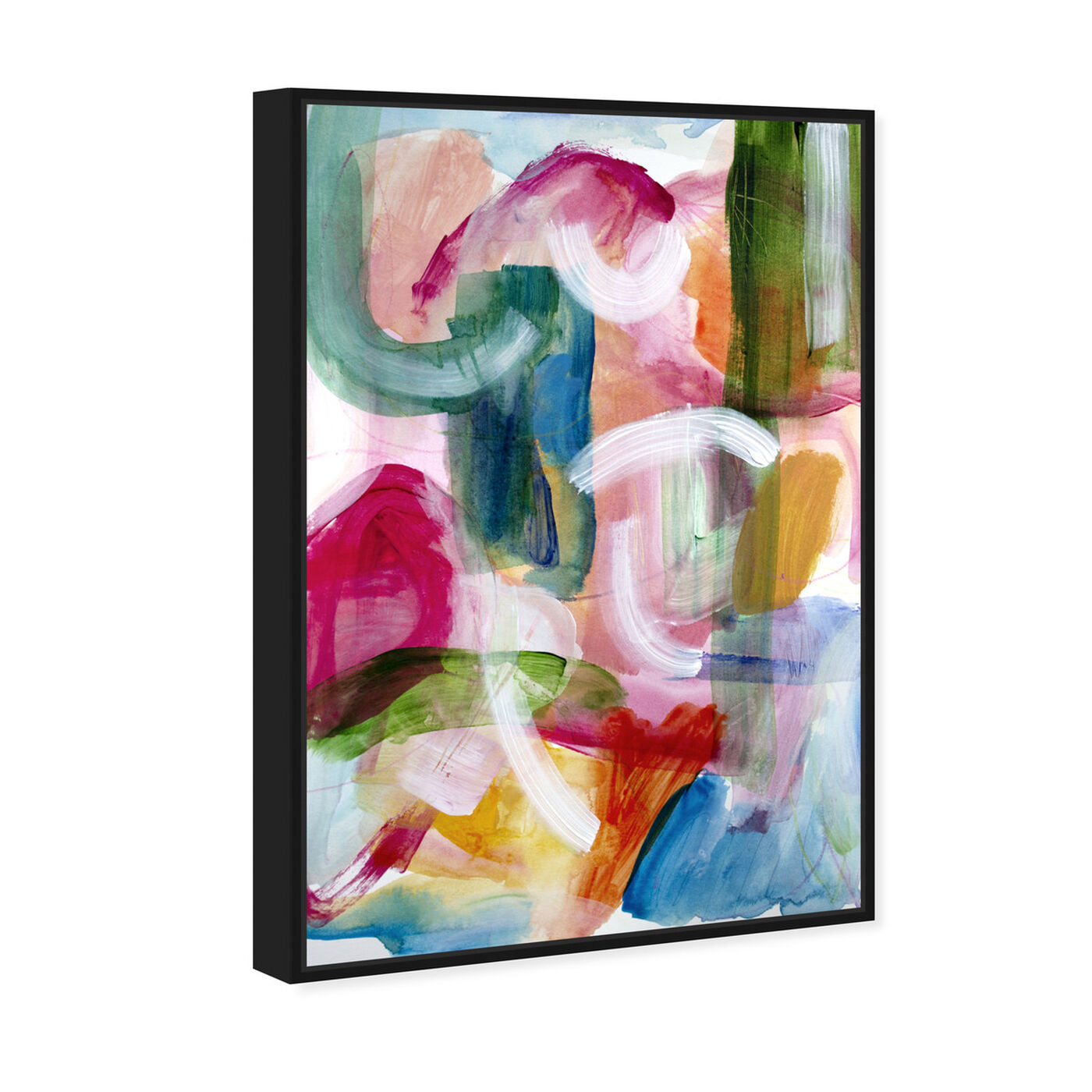 Angled view of Green Amazonia II featuring abstract and paint art.