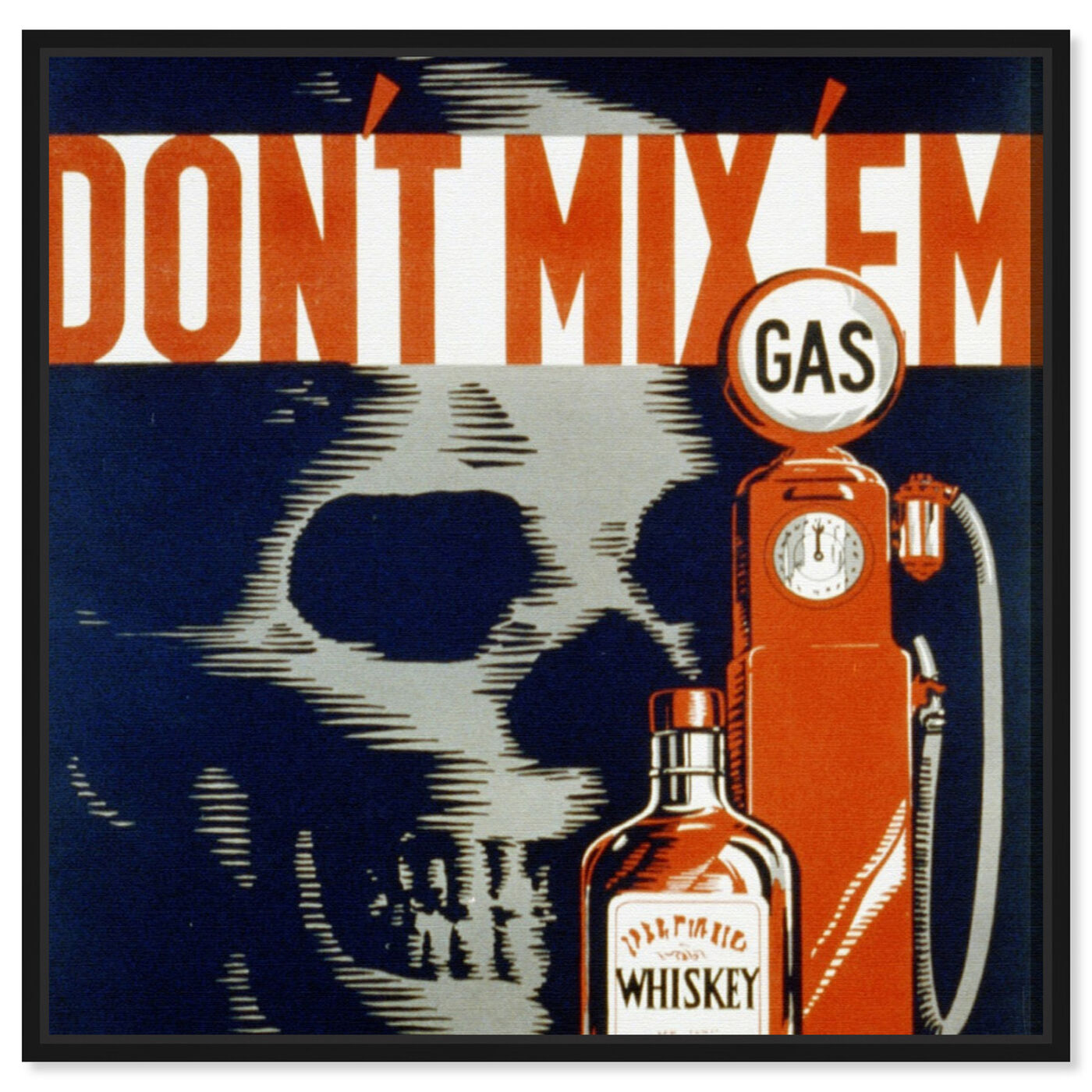 Front view of Don't Mix 'Em featuring drinks and spirits and liquor art.
