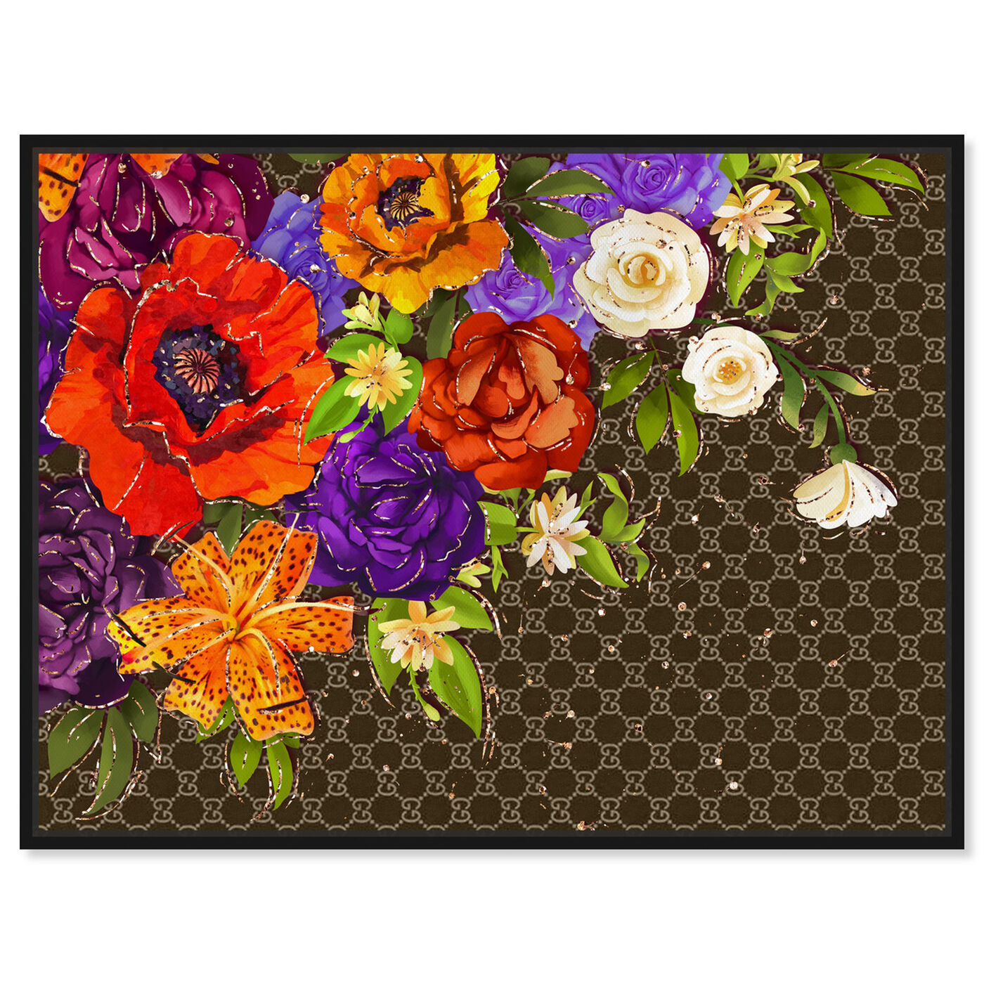 Front view of Firenze Fashion Floral featuring floral and botanical and florals art.