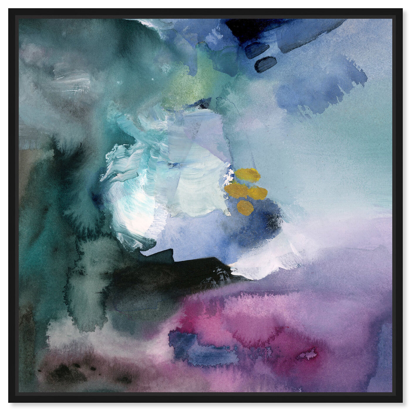 Front view of Nebulosa Abstract featuring abstract and watercolor art.