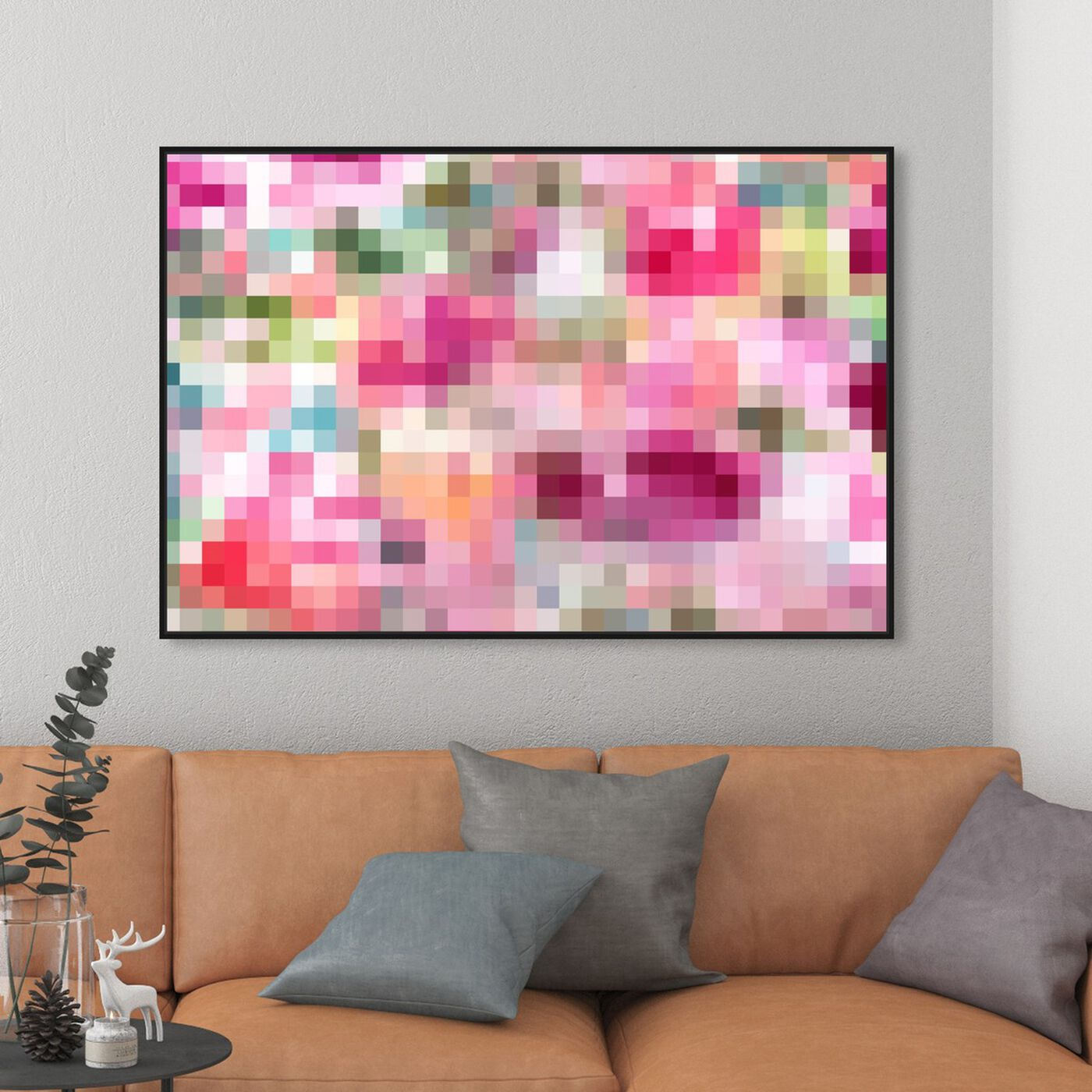 Hanging view of Pixel Garden featuring abstract and textures art.