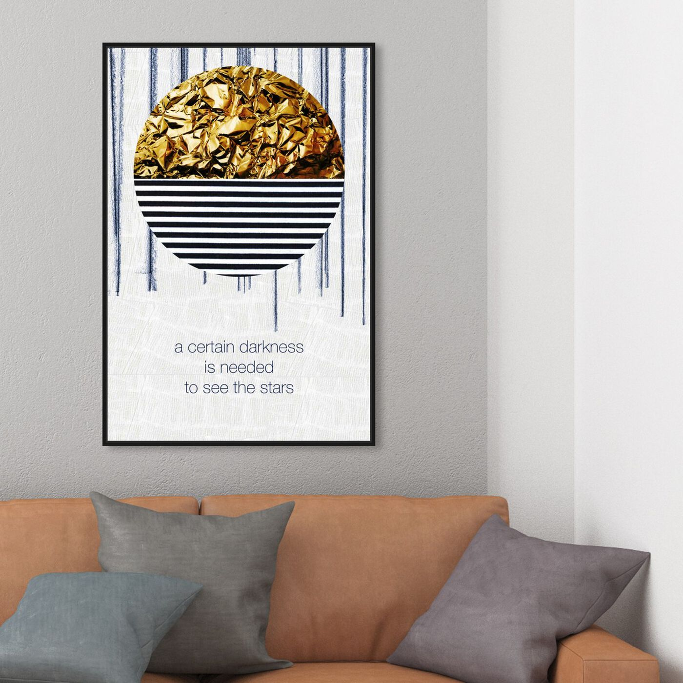 Hanging view of Certain Darkness featuring typography and quotes and inspirational quotes and sayings art.