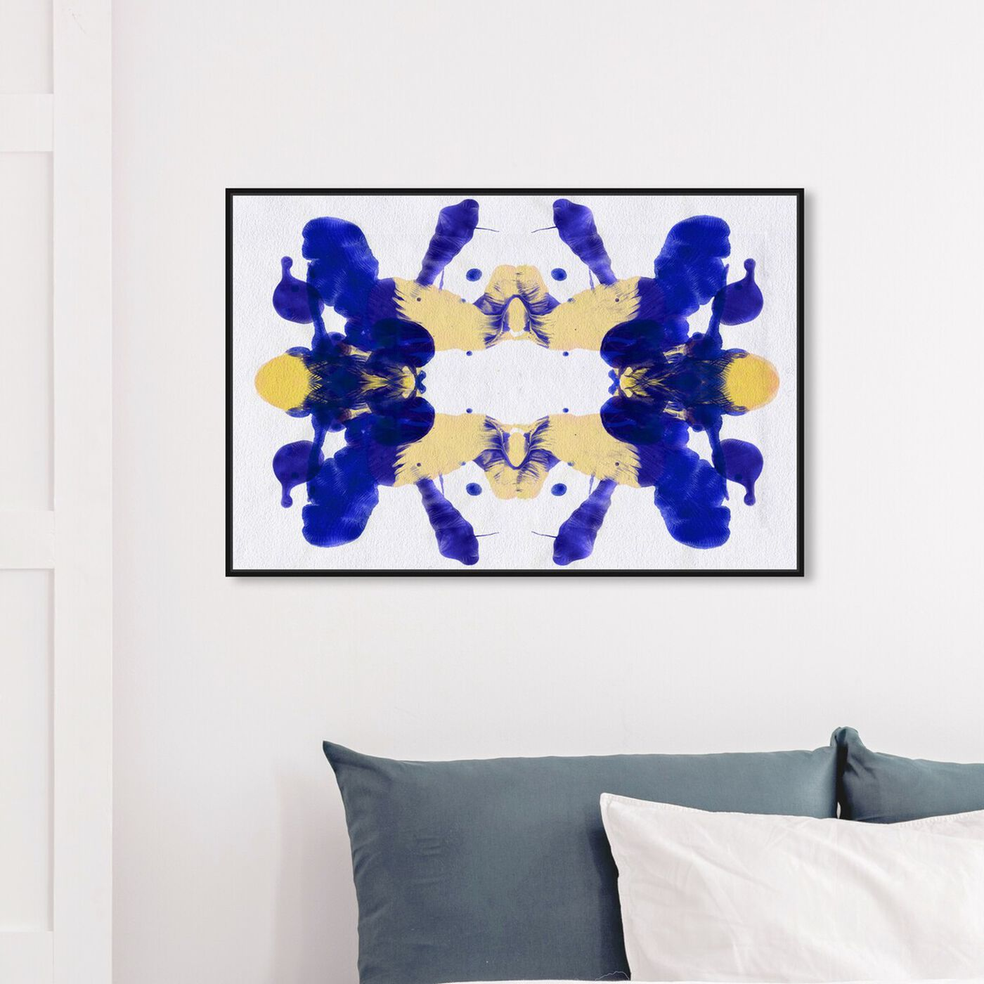 Hanging view of Blue Veranda - Signature Collection featuring abstract and paint art.
