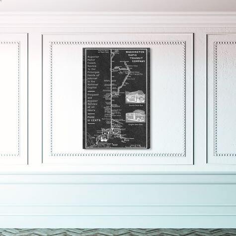 Washington Rapid Transit Co. Map 1927