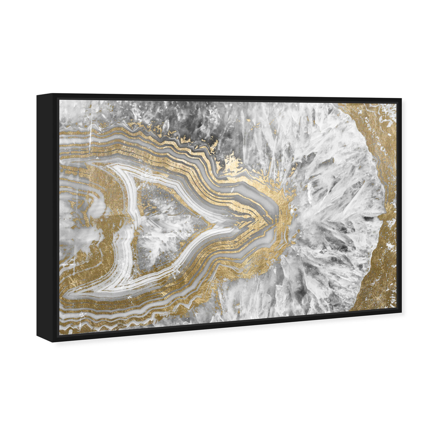Angled view of Agate Geode Crystal featuring abstract and crystals art.
