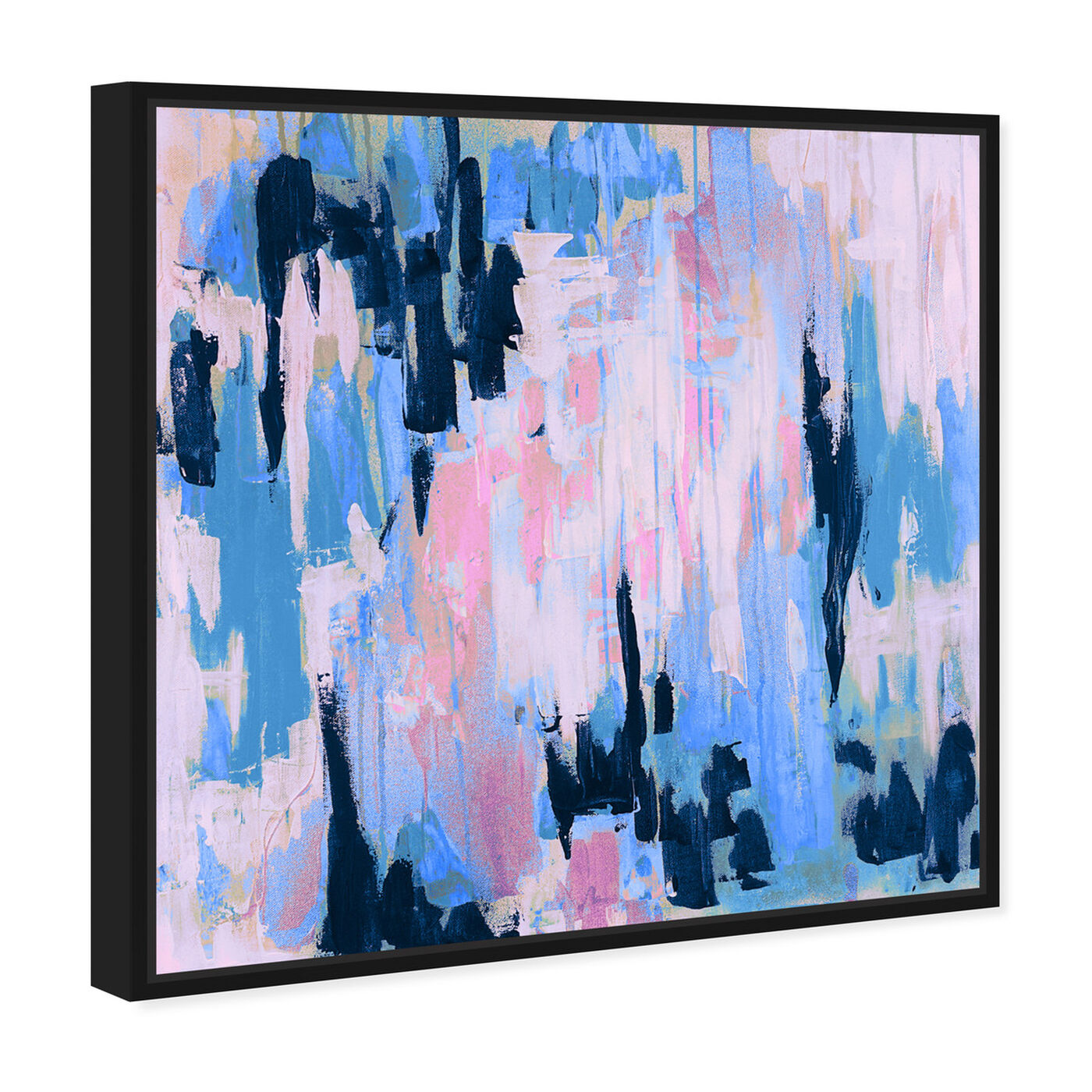 Angled view of Marissa Anderson - Blush and Aqua Swan Lake featuring abstract and paint art.