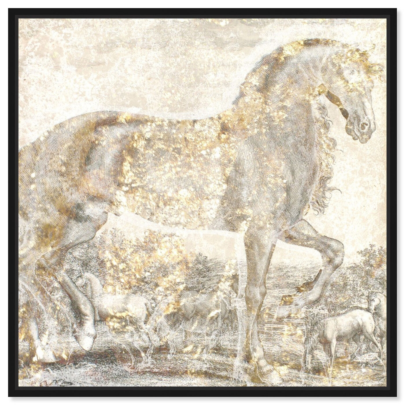 Front view of Brilliant Equestrian featuring animals and farm animals art.
