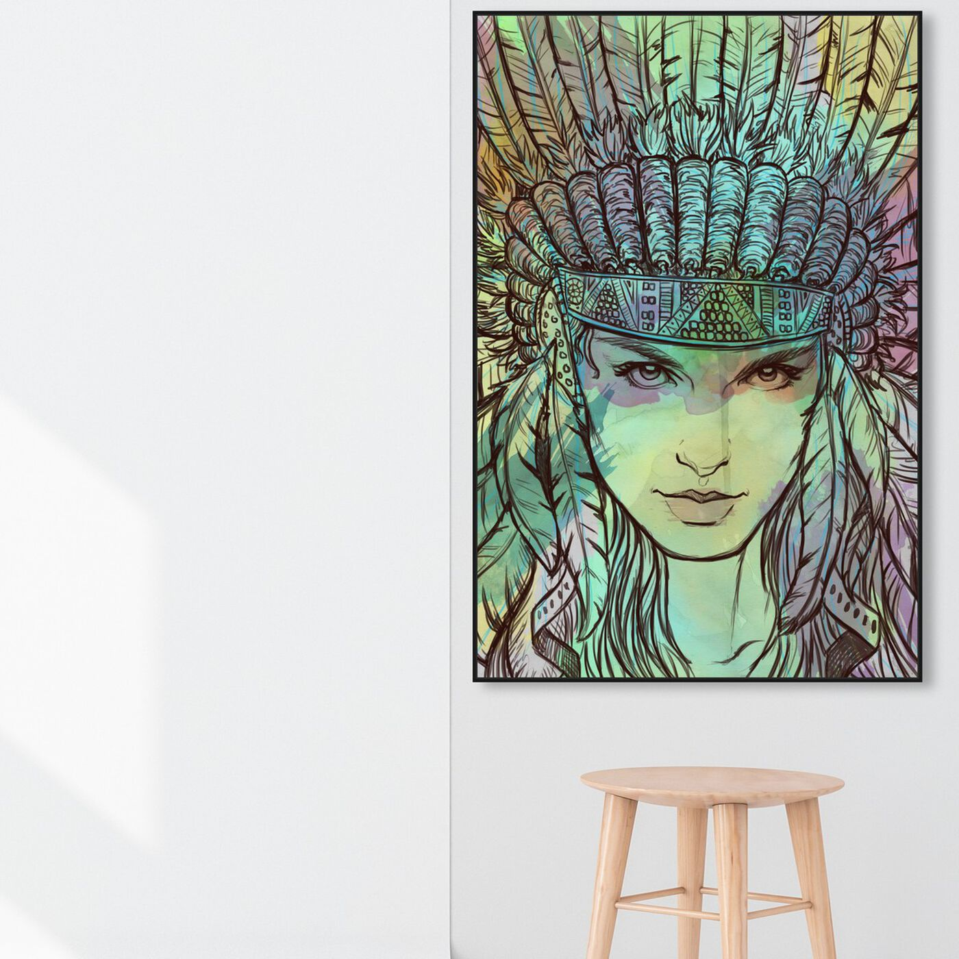 Hanging view of Defiant Forest featuring fashion and glam and portraits art.