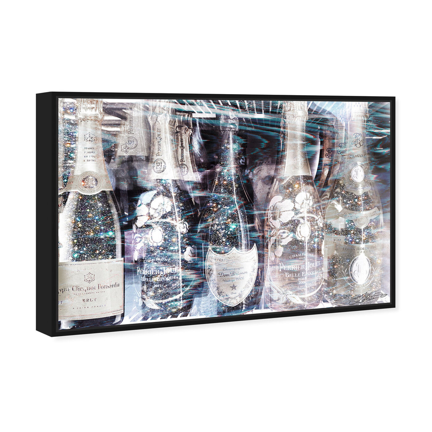 Angled view of Drunk in Love featuring drinks and spirits and champagne art.