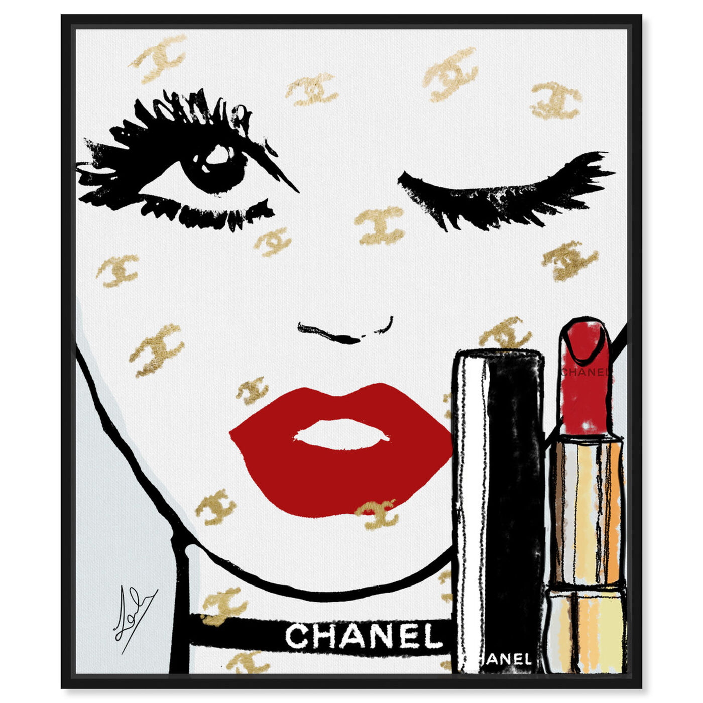 Front view of Le Rouge Face featuring fashion and glam and portraits art.