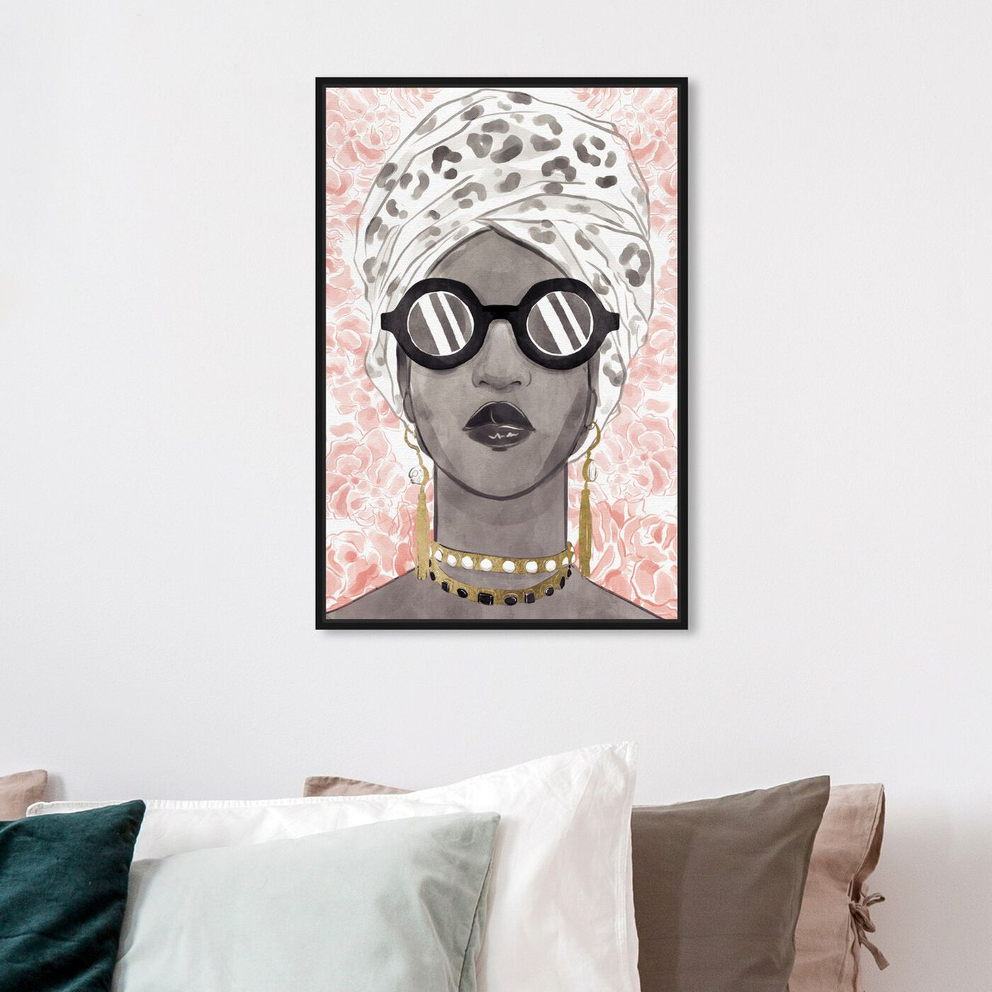 Hanging view of Spots and Shades featuring fashion and glam and accessories art.