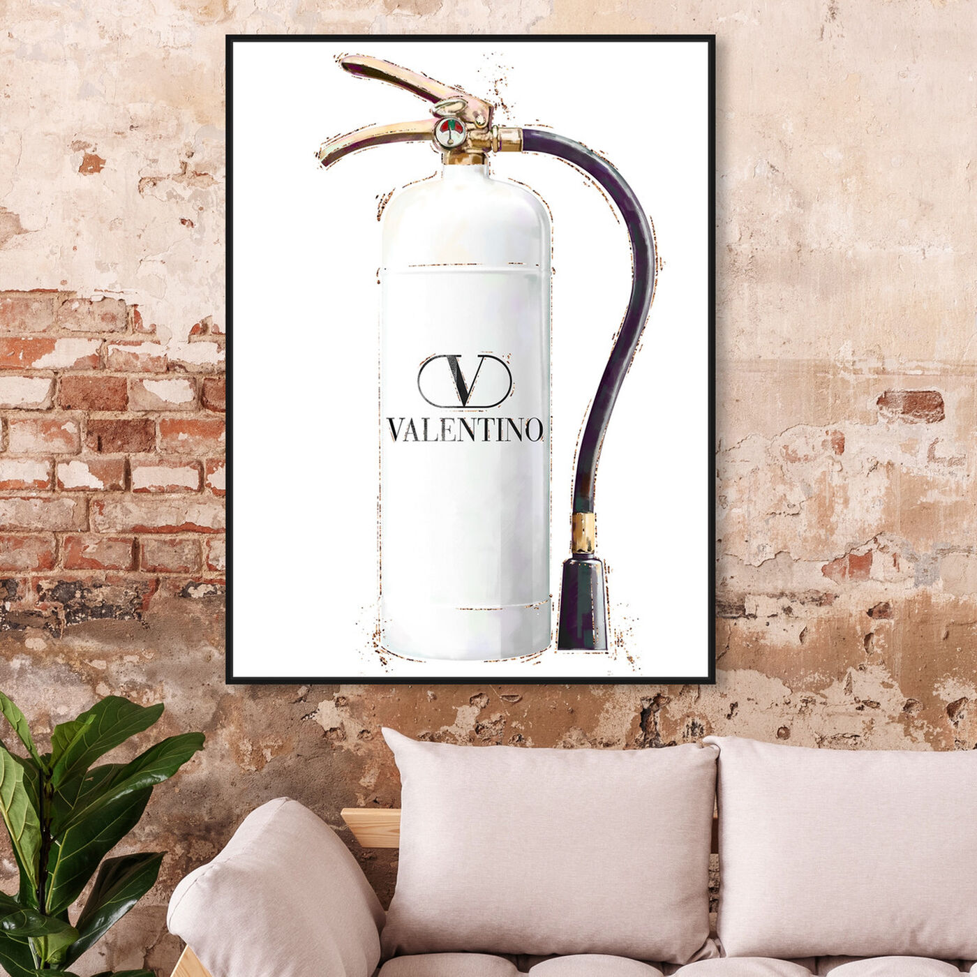 Hanging view of White Extinguisher featuring fashion and glam and lifestyle art.